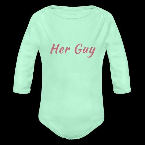 Her Guy - Organic Long Sleeve Baby Bodysuit
