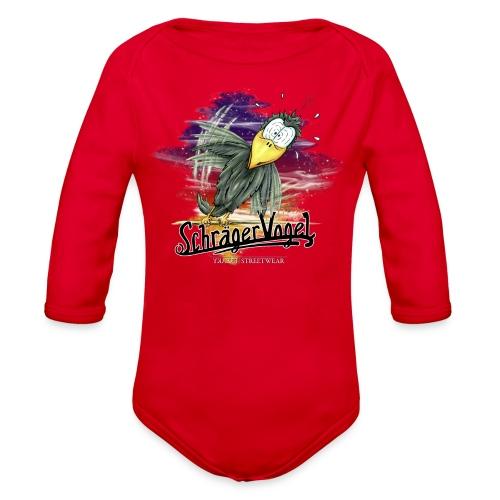 schräger Vogel - Organic Long Sleeve Baby Bodysuit