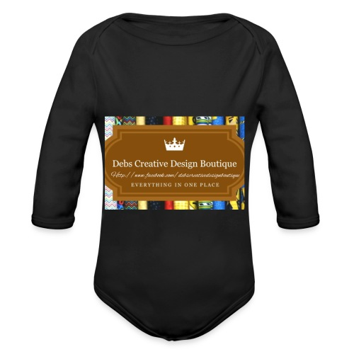 Debs Creative Design Boutique with site - Organic Long Sleeve Baby Bodysuit