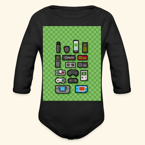controller handy - Organic Long Sleeve Baby Bodysuit