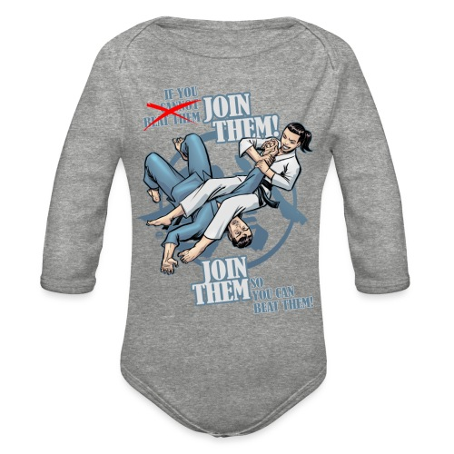 Judo shirt - Jiu Jitsu shirt - Join Them - Organic Long Sleeve Baby Bodysuit