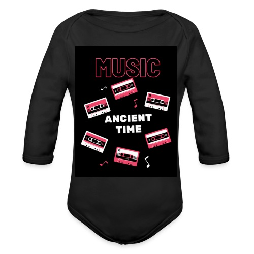 Music Ancient time - Organic Long Sleeve Baby Bodysuit