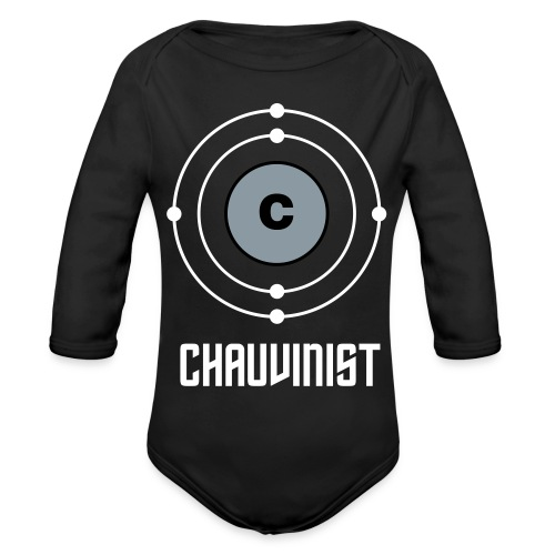 Carbon Chauvinist Electron - Organic Long Sleeve Baby Bodysuit