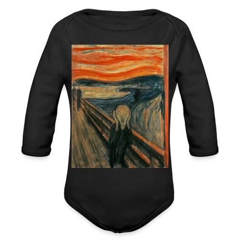 The Scream (Edvard Munch) - Organic Long Sleeve Baby Bodysuit
