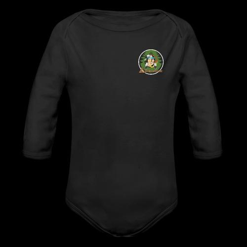Archigantegou Logo Color - Organic Long Sleeve Baby Bodysuit