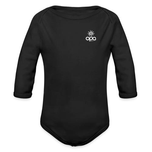 Long-sleeve t-shirt with small white OPA logo - Organic Long Sleeve Baby Bodysuit