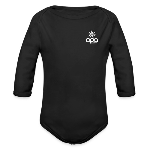 Hoodie with small white OPA logo - Organic Long Sleeve Baby Bodysuit