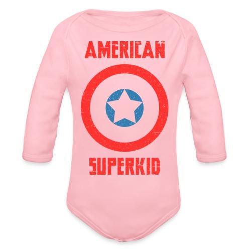 American Superkid - Organic Long Sleeve Baby Bodysuit