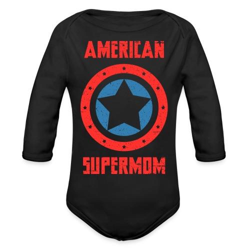 American Supermom - Organic Long Sleeve Baby Bodysuit