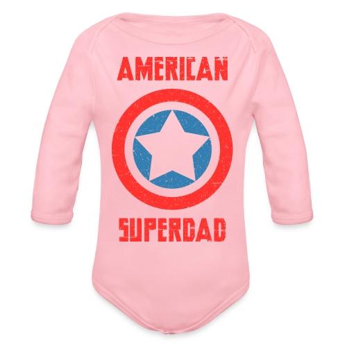 American Superdad - Organic Long Sleeve Baby Bodysuit