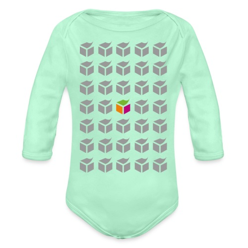 grid semantic web - Organic Long Sleeve Baby Bodysuit