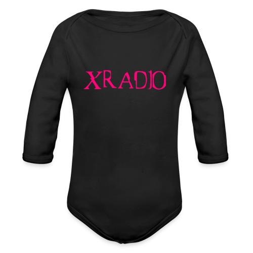 XRADIO pink logo - Organic Long Sleeve Baby Bodysuit