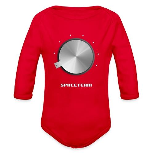 Spaceteam Dial - Organic Long Sleeve Baby Bodysuit