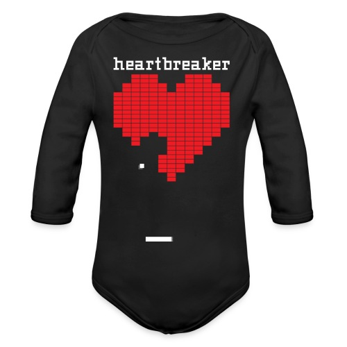 Heartbreaker Valentine's Day Game Valentine Heart - Organic Long Sleeve Baby Bodysuit
