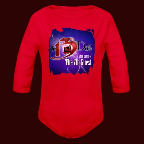 The 13th Doll Logo With Lightning - Organic Long Sleeve Baby Bodysuit