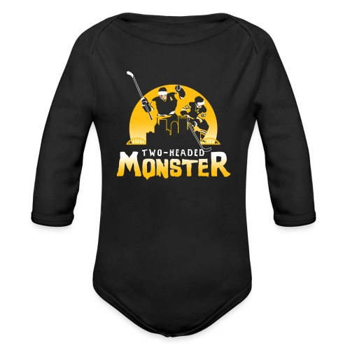 Two-Headed Monster - Organic Long Sleeve Baby Bodysuit