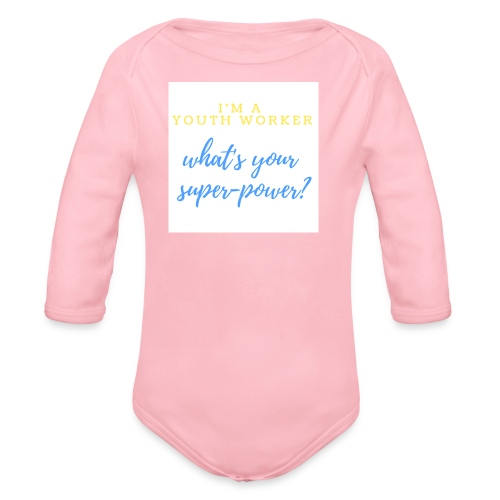 Super Hero - Organic Long Sleeve Baby Bodysuit