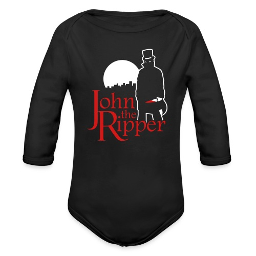 Evil John The Ripper Dark background - Organic Long Sleeve Baby Bodysuit