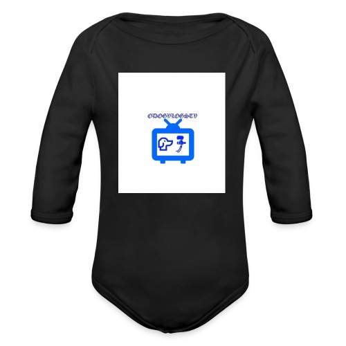 OdogVlogsTv Offical Logo - Organic Long Sleeve Baby Bodysuit