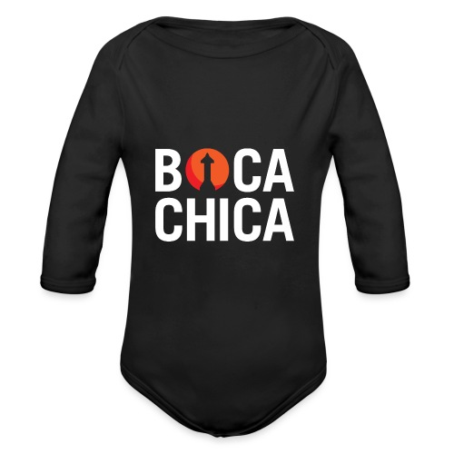 Boca Chica Starship Mars Silhouette - Organic Long Sleeve Baby Bodysuit