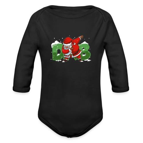 Dabbing Santa - Organic Long Sleeve Baby Bodysuit