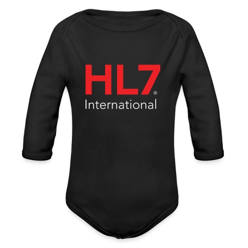 HL7 International Logo - Reverse - Organic Long Sleeve Baby Bodysuit