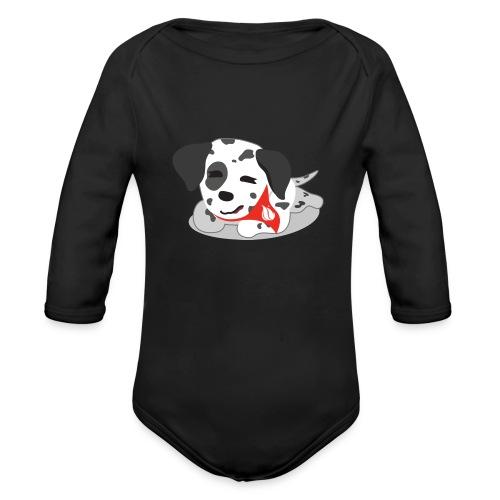 Sparky sleeping - Organic Long Sleeve Baby Bodysuit