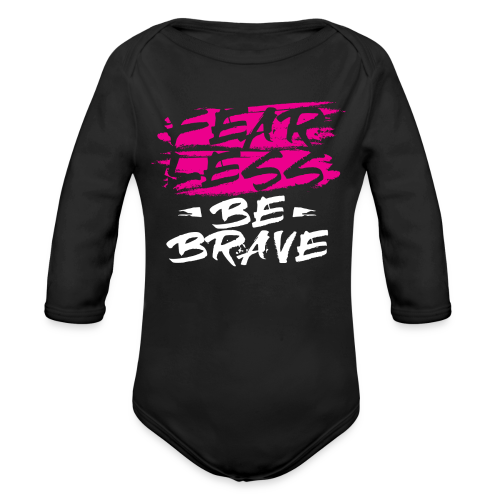 Fearless Pink Tees and Accessories - Organic Long Sleeve Baby Bodysuit