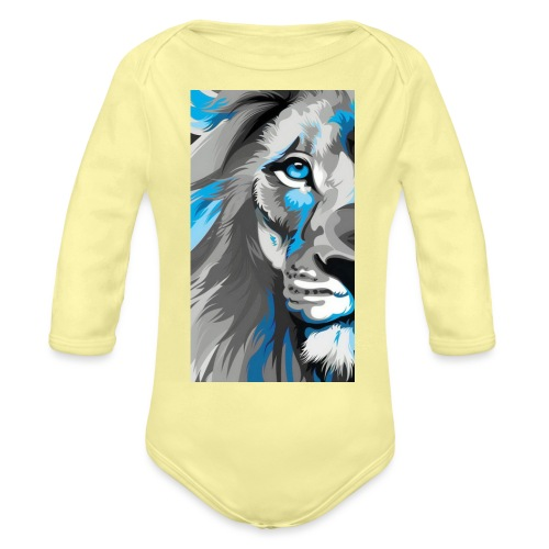 Blue lion king - Organic Long Sleeve Baby Bodysuit