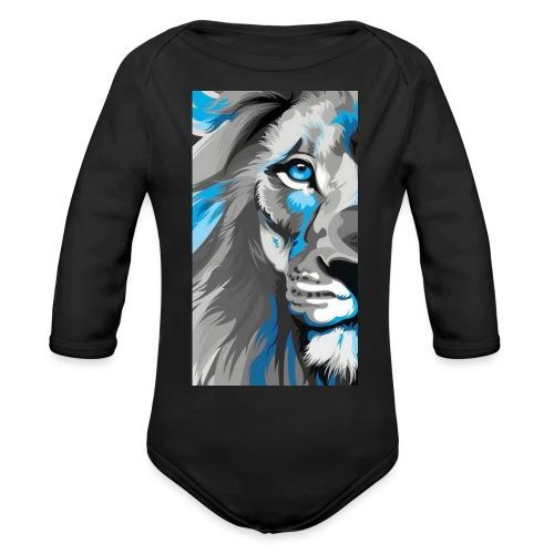 Blue lion king - Organic Long Sleeve Baby Bodysuit