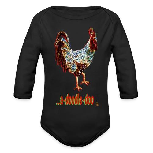 A Doodle Doo - Organic Long Sleeve Baby Bodysuit