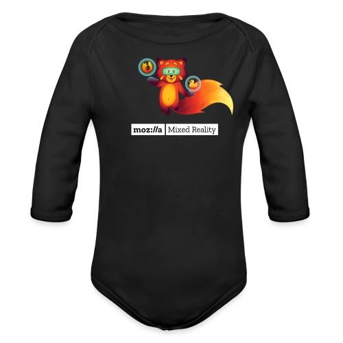Foxr Floating (white MR logo) - Organic Long Sleeve Baby Bodysuit