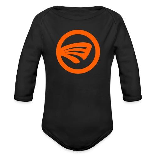 LuckyFin Orange - Organic Long Sleeve Baby Bodysuit