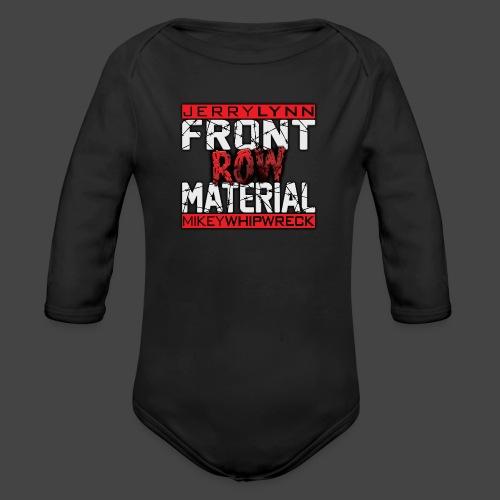 Front Row Material Logo - Organic Long Sleeve Baby Bodysuit
