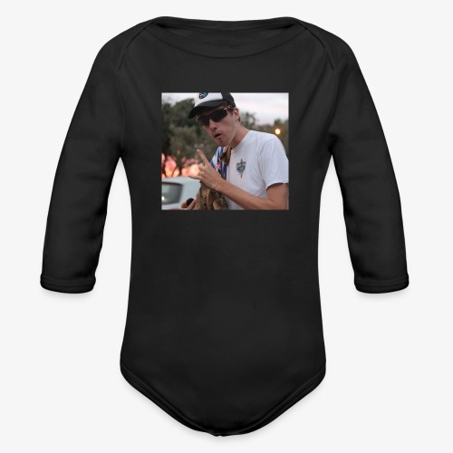 big man - Organic Long Sleeve Baby Bodysuit