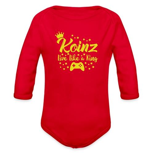 Live Like A King - Organic Long Sleeve Baby Bodysuit