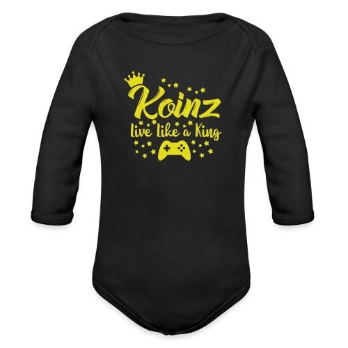 Live Like A King - Organic Long Sleeve Baby Bodysuit