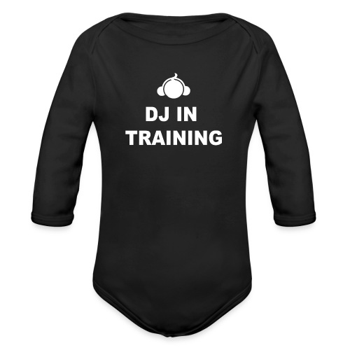 DJInTraining - Organic Long Sleeve Baby Bodysuit