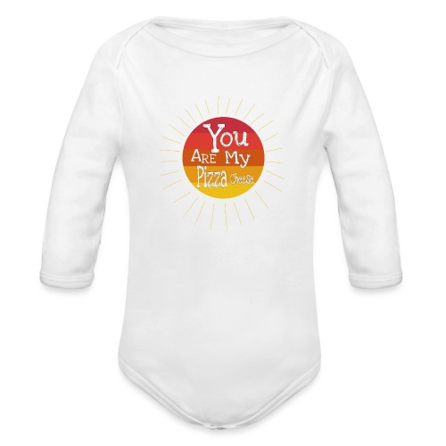 You Are My Pizza Cheese - Organic Long Sleeve Baby Bodysuit