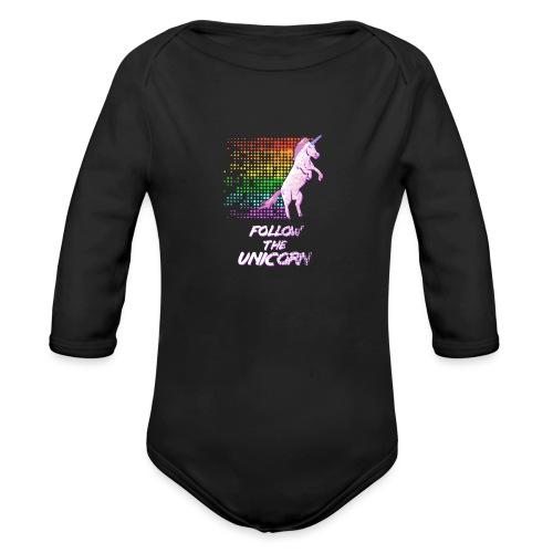 Follow The Unicorn - Organic Long Sleeve Baby Bodysuit