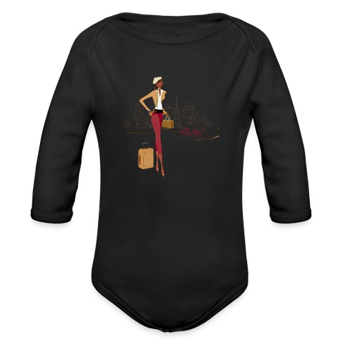 BrowOutfitPNG png - Organic Long Sleeve Baby Bodysuit
