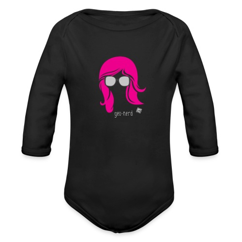 Geo Nerd (her) - Organic Long Sleeve Baby Bodysuit