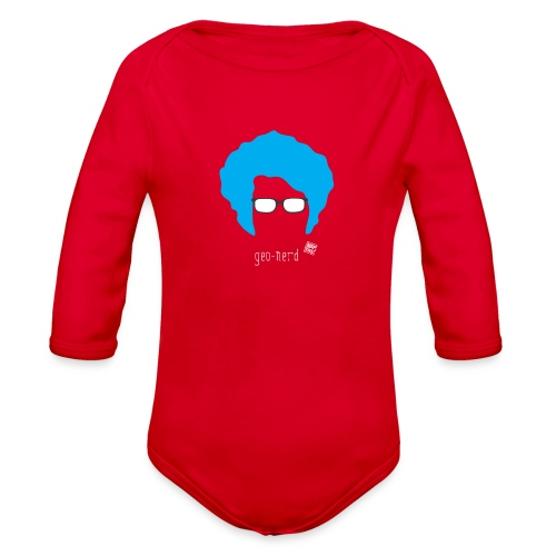 Geo Nerd (him) - Organic Long Sleeve Baby Bodysuit