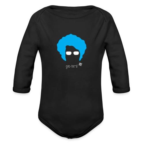 Geo Nerd (him) - Organic Long Sleeve Baby Bodysuit