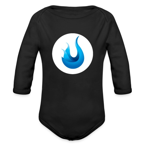 flame front png - Organic Long Sleeve Baby Bodysuit