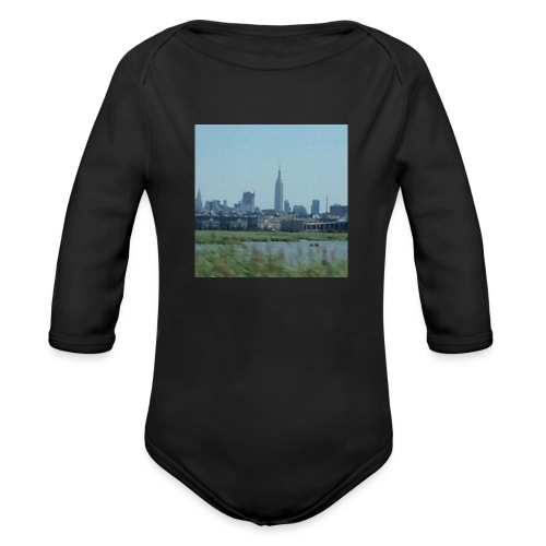 New York - Organic Long Sleeve Baby Bodysuit