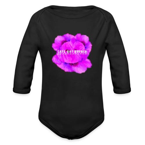 lets_get_purple_2 - Organic Long Sleeve Baby Bodysuit