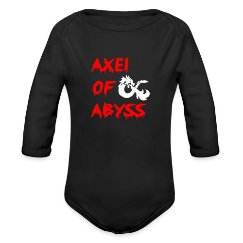 Axelofabyss dragon shirt - Organic Long Sleeve Baby Bodysuit