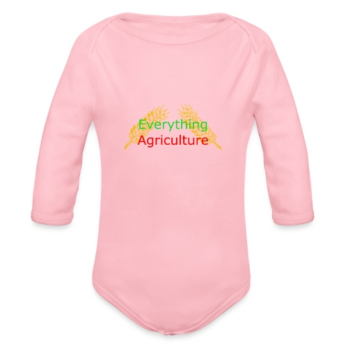 Everything Agriculture LOGO - Organic Long Sleeve Baby Bodysuit