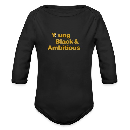 YBA Black and Gold Shirt2 - Organic Long Sleeve Baby Bodysuit